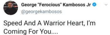 George Kambosos tweet taunting Teofimo Lopez