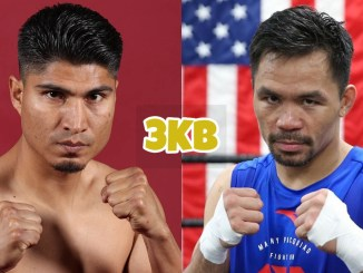 Mikey Garcia (left), Manny Pacquiao