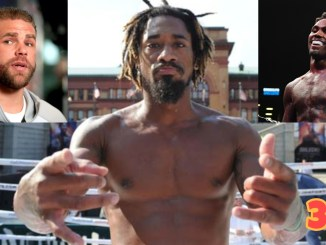 Demetrius Andrade, Billy Joe Saunders (top left), Jermall Charlo (top right)