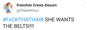 Franchon Crews-Dezurn calls for a bout for undisputed