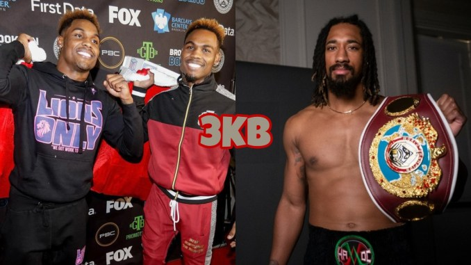 Jermell Charlo and Jermall Charlo, Demetrius Andrade holding his WBO Middleweight title