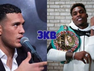 David Benavidez (left), WBC World Middleweight champion Jermall Charlo