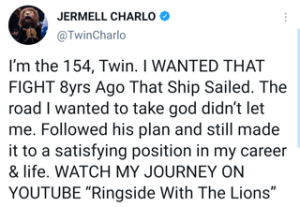 Jermell Charlo is no longer interested in a fight with Canelo Alvarez