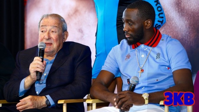 Bob Arum with WBO Welterweight champion Terence Crawford