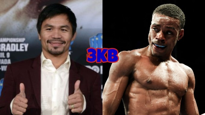 Manny Pacquiao, unified welterweight champion Errol Spence Jr.