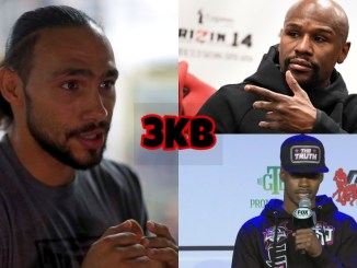 Keith Thurman, Floyd Mayweather Jr., unified welterweight champion Errol Spence Jr.
