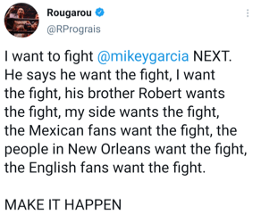 Regis Prograis calls for a fight to be made with Mikey Garcia