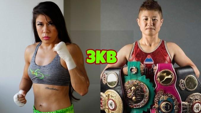 Sulem Urbina, WBA Womens Flyweight champion Naoko Fujioka