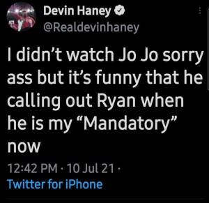 Devin Haney undermines Jo Jo Diaz