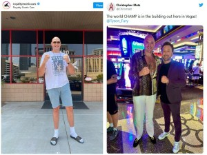 Tyson Fury photographed in Las Vegas