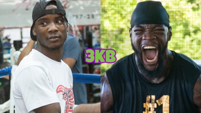 Super featherweight boxer Chris Colbert, Deontay Wilder