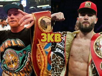 Unified super middleweight champion Canelo Alvarez, IBF super middleweight champion Caleb Plant