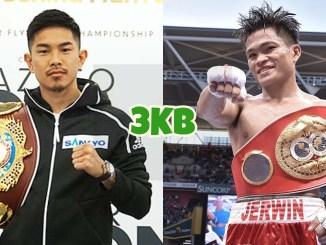 WBO super flyweight champion Kazuto Ioka, IBF super flyweight champion Jerwin Ancajas