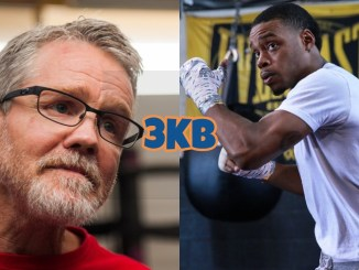 Boxing trainer Freddie Roach, unified welterweight champion Errol Spence Jr.