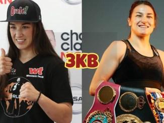 IBF featherweight champion Jennifer Han, female undisputed lightweight champion Katie Taylor