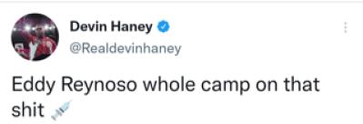 Devin Haney accuses Eddy Reynoso of running a dirty camp