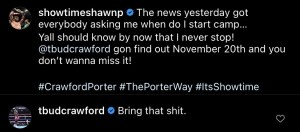 Shawn Porter and Terence Crawford trade words over social media
