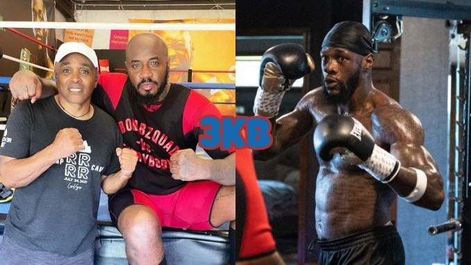 Don House poses with Malik Scott, Deontay Wilder trains for his trilogy fight with Tyson Fury