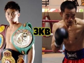 Unified bantamweight champion Naoya Inoue, Aran Dipaen in a boxing match
