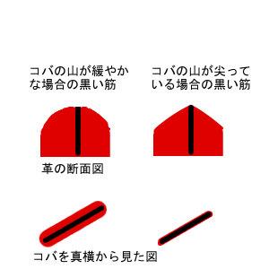 コバの山の鋭角差と断面図