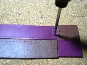 クロスステッチ用縫い穴のあけ方3