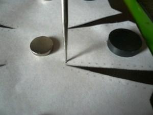 縫い穴の印つけ