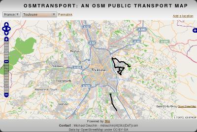 OsmTransport 0.1 Toulouse