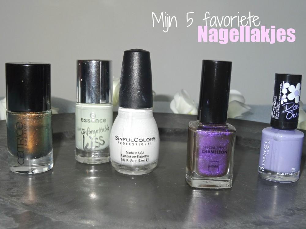 Mijn 5 favoriete nagellakjes op dit moment