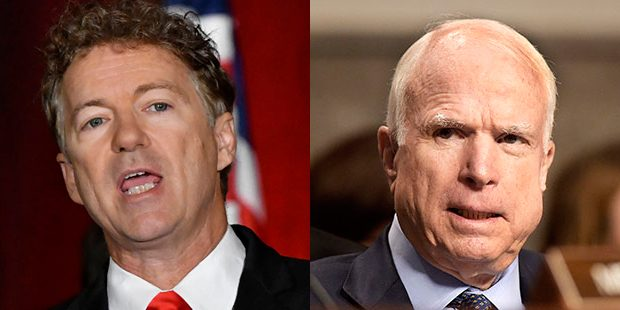 Image result for photos of mccain rand paul susan collins