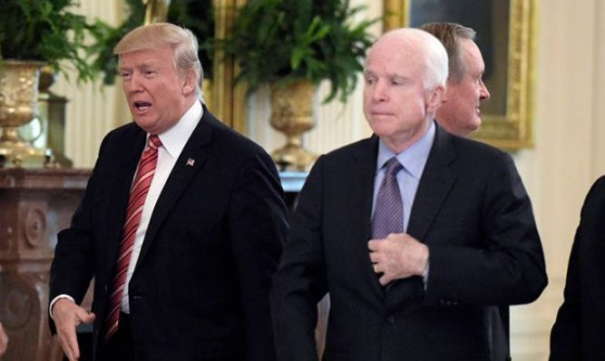 Image result for trump & mccain