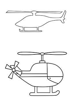 Вертолет: шаблон для вырезания из бумаги — 3mu.ru
