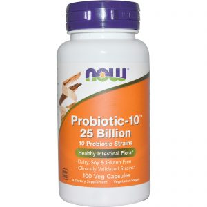 Now Foods All Natural Non-GMO 10 Strain Probiotic: 25 billion CFU (100 count) - FREE SHIPPING with AMAZON PRIME