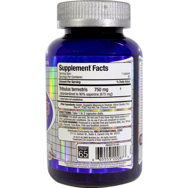 TribX 100% Pure All Natural Non-GMO Tribulus Terrestris - supplement facts
