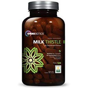 Omni Biotics Organic Milk Thistle Capsules (1500 mg) - FREE SHIPPING with AMAZON PRIME