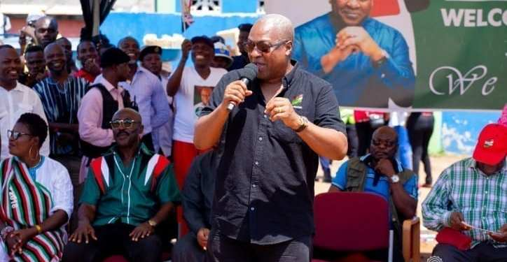John Mahama began his tour of the Ashanti Region on Monday, Nov. 10