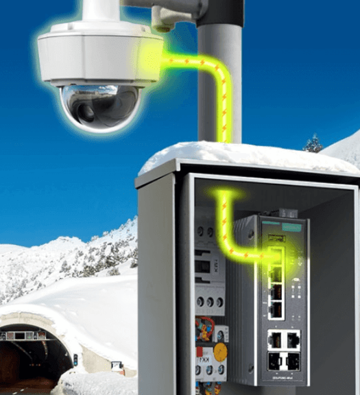 Moxa switches for surveillance equipment
