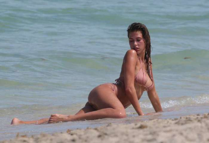 Kara Del Toro – Bikini photoshoot at Miami Beach