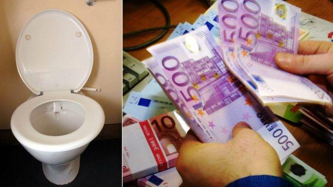 Євро в унітазі