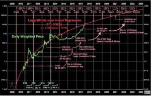 Динаміка подорожчання криптовалюти