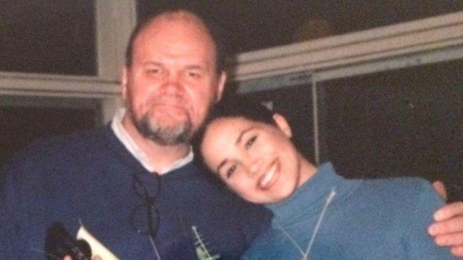 Меган Маркл з батьком