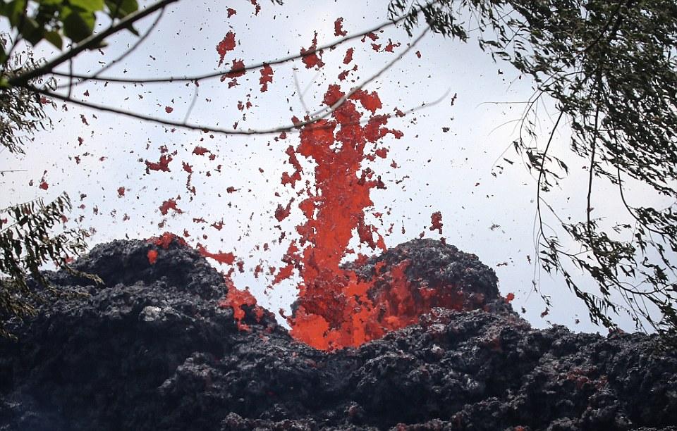 Виверження магми на Гаваях