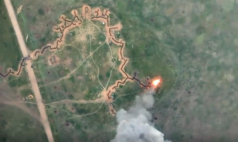 Ракетний удар по російських військах