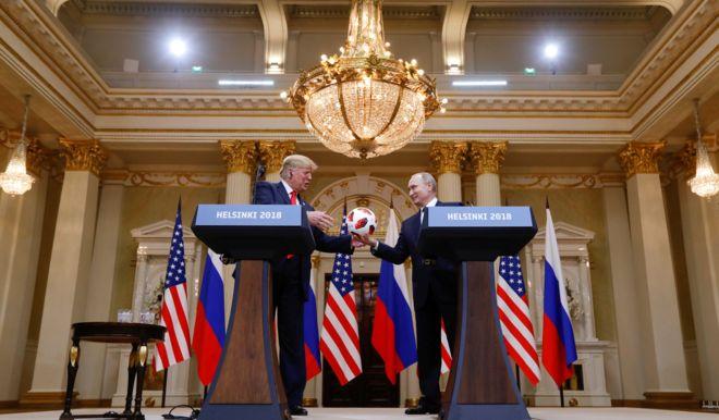 Путін і Трамп у Гельсінкі
