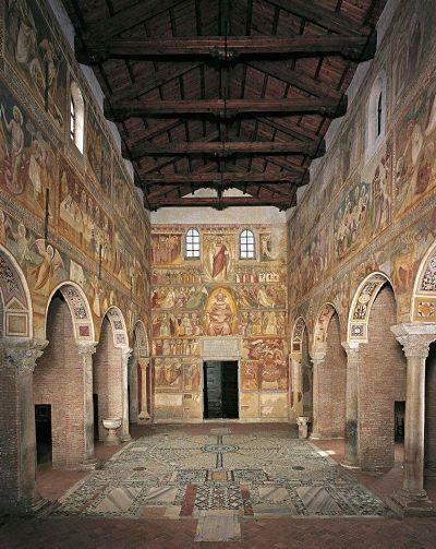 Фреска знаходиться в бенедиктинському монастирі Помпози