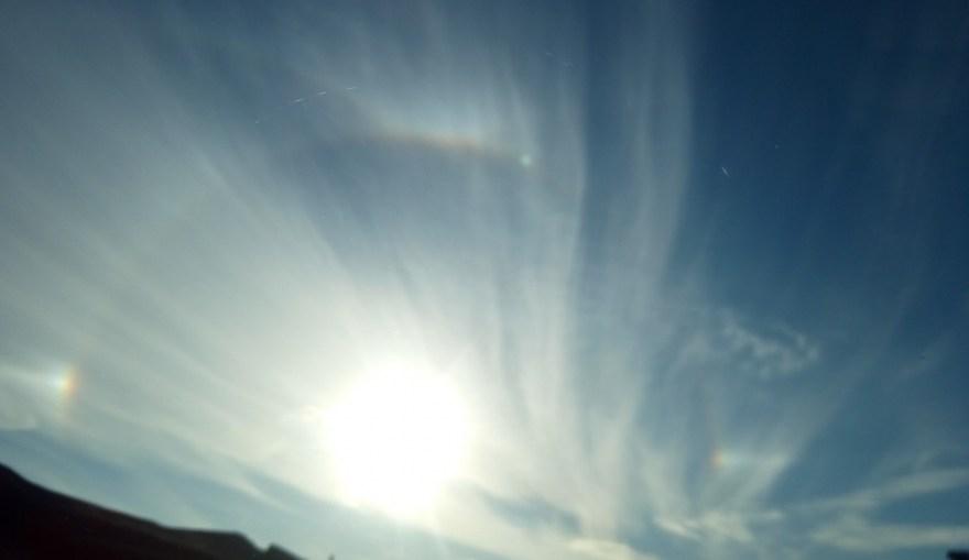 Тернополяни спостерігали за Сонцем у німбі