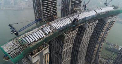 У Китаї збудували горизонтальний хмарочос
