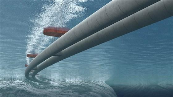 Труби будуть стабілізовані кабелями, прив'язаними до морського дна