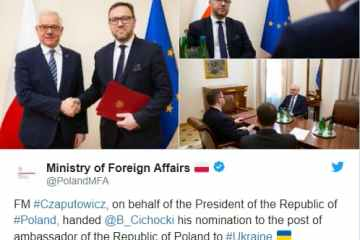 Варшава призначила нового посла в Україну