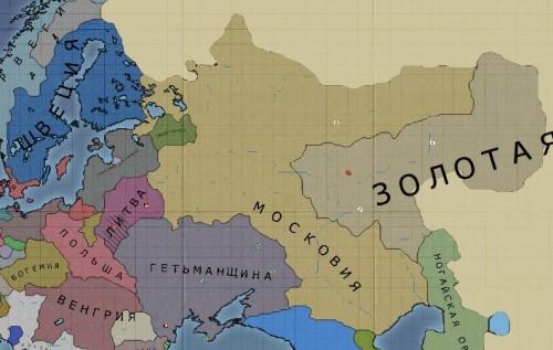 Московія, карта