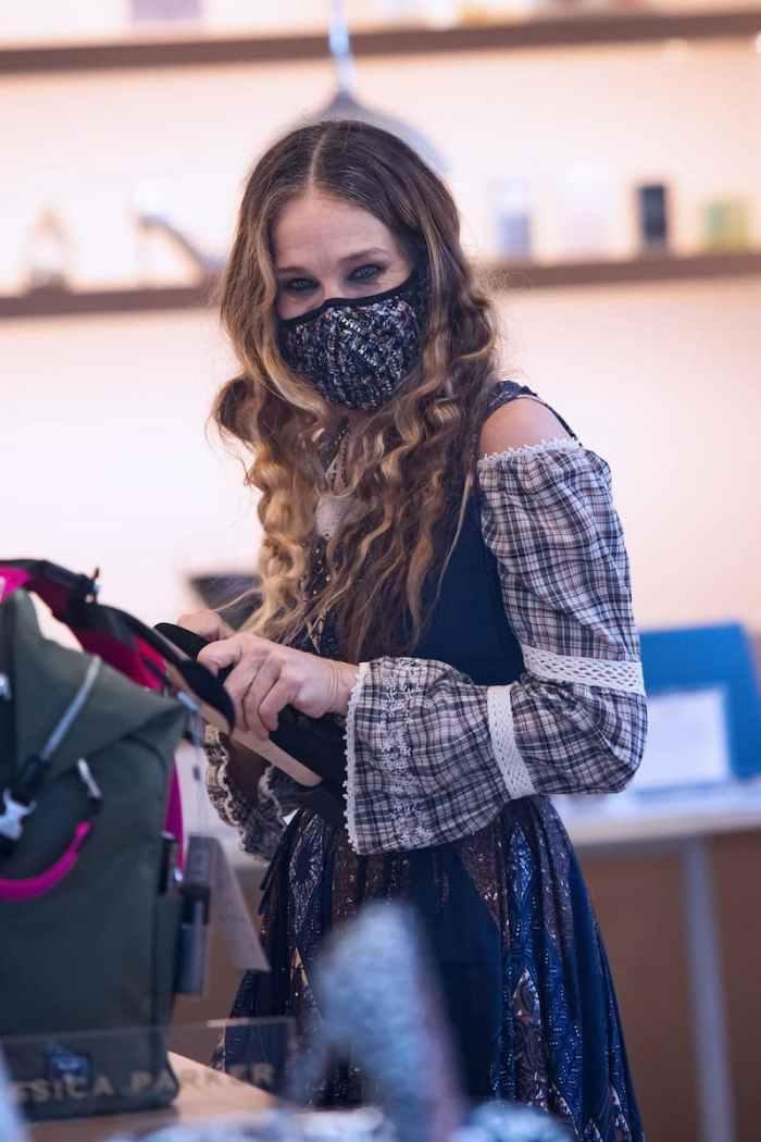 Сара Джессіка Паркер у своєму магазині жіночого взуття